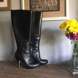 Via Spiga tall black leather boots